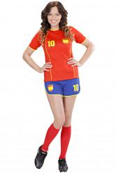 Spaanse voetbalster kostuum voor vrouwen