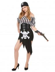Sexy korte piraten outfit voor vrouwen