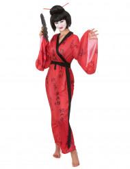 Geisha kostuum met Japanse tekens voor vrouwen