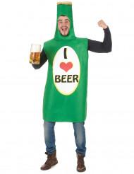 Bierfles kostuum voor volwassenen