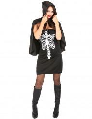 Verkleedkostuum skelet voor dames