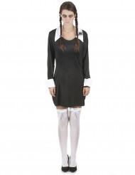 Duister gothic schoolmeisje jurk voor vrouwen