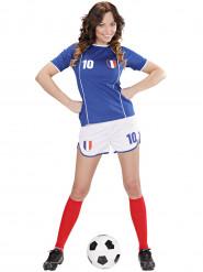 Franse voetbal supporter kostuum voor vrouwen