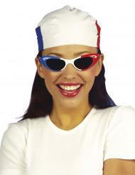 Rood wit blauw hoofddoekje voor volwassenen