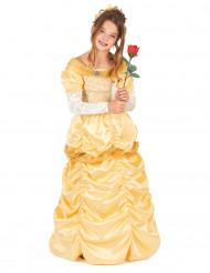 Geel satijnachtig prinses kostuum voor meisjes