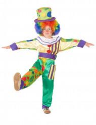 Kleurrijke clown kostuum voor jongens