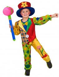 Bont clown kostuum voor jongens