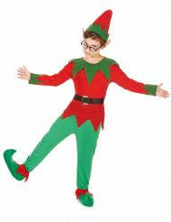 Groen en rood elfenkostuum voor kinderen