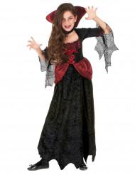 Fluweelachtig vampier kostuum voor meisjes