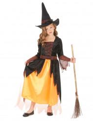 Verkleedkostuum heks oranje voor meisjes Halloween kleding