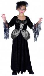 Verkleedkostuum zwarte weduwe voor meisjes Halloween outfit