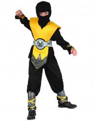 Geel ninja pak voor jongens
