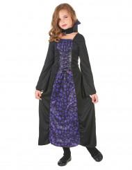Paarse doodskoppen vampier outfit voor meisjes