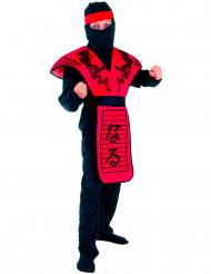 Rode draken strijder ninja kostuum voor jongens