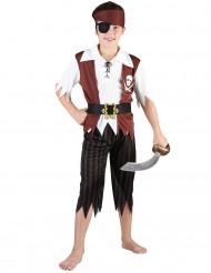 Bruine piraten outfit voor jongens
