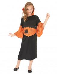 Oranje spin koningin kostuum voor meisjes