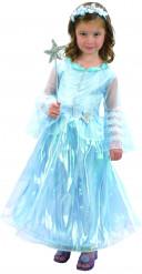 Verkleedkostuum prinses luxe blauw voor meisjes