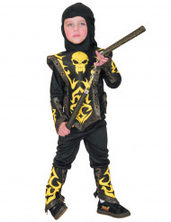 Verkleedkostuum Ninja geel voor jongens Feestkostuum