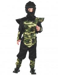 Verkleedkostuum militaire ninja voor jongens Feestkostuum