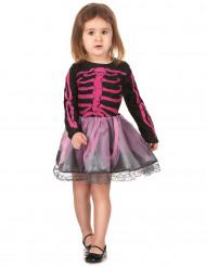 Roze skelet kostuum voor meisjes