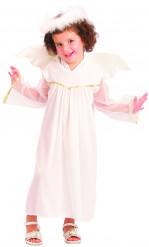 Verkleedkostuum engel wit voor meisjes Feestkostuum