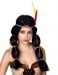 Indiaanse pruik met vlechten voor vrouwen