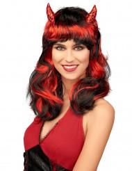 Rode duivel pruik voor vrouwen