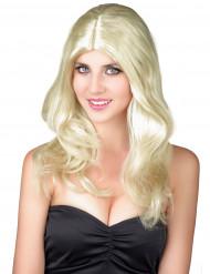 Blonde vrouwenpruik
