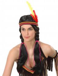 Indiaanse pruik voor dames