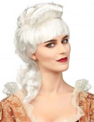 Witte adellijke pruik voor dames