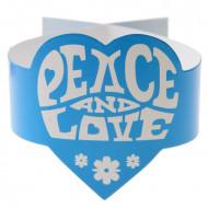 Turquoise Hippie Peace and Love servetringen