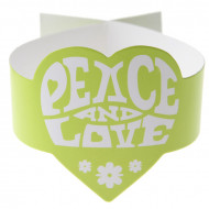 Set groene Peace and Love servetringen