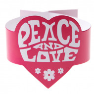 Roze servetringen Hippie