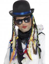 Zanger hoed met gekleurde vlechten voor volwassenen