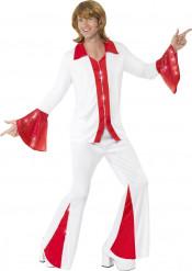 Rood-wit disco pak voor heren