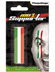 Italiaanse supporter gezicht schmink