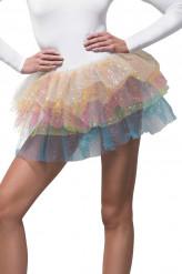 Regenboog tutu met glitters voor vrouwen