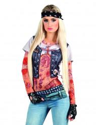Fop-shirt getatoeëerde rock girl.