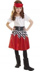Rode piraten pak voor meisjes