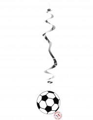 Set van 6 voetbal versieringen
