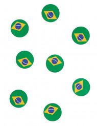 150 Braziliaanse vlaggetjes confetti