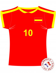 Spaanse voetbal shirt muurdecoratie