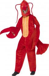 Kostuum van rode kreeft voor volwassenen