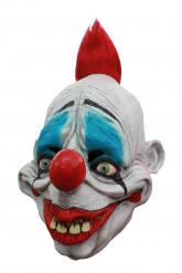 Eng clown masker in het rood voor volwassenen