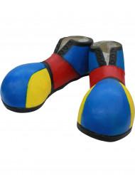 Blauwe clown schoenen