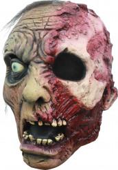 Verbrande zombie masker voor Halloween