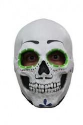 Masker skelet met groene oogkringen Halloween