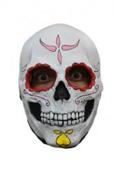 Masker skelet met rode oogkringen Halloween