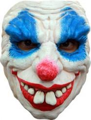 Demonisch clown halfmasker voor Halloween