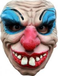 Duiverwekkend clown halfmasker voor volwassenen